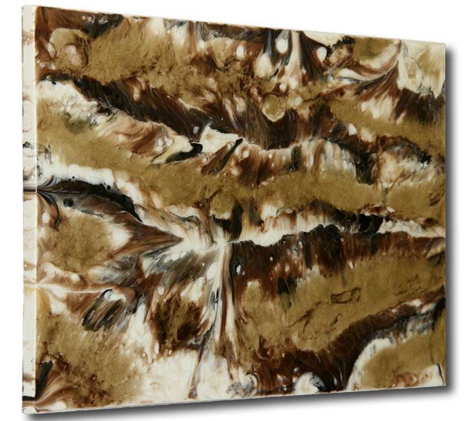 """The Golden Stream"" Resin Painting by Michael Stowasser"