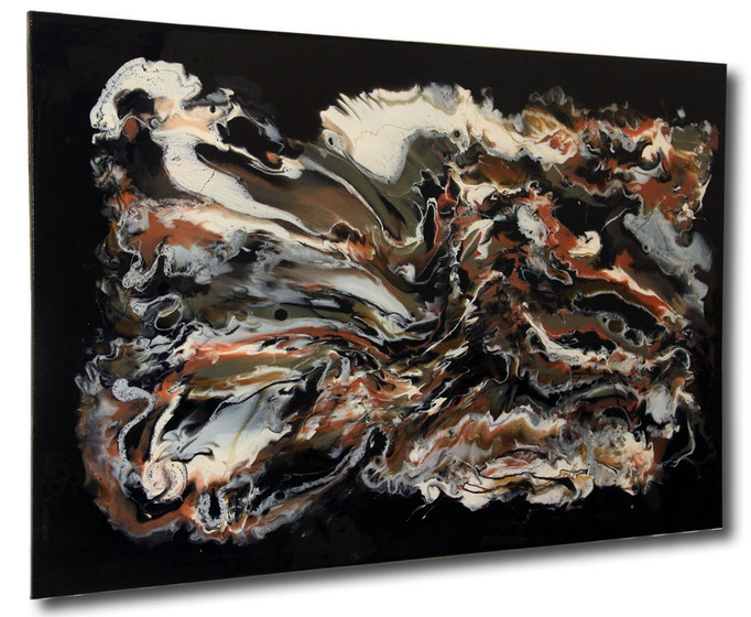 """Composition VII"" Resin Painting by Michael Stowasser"