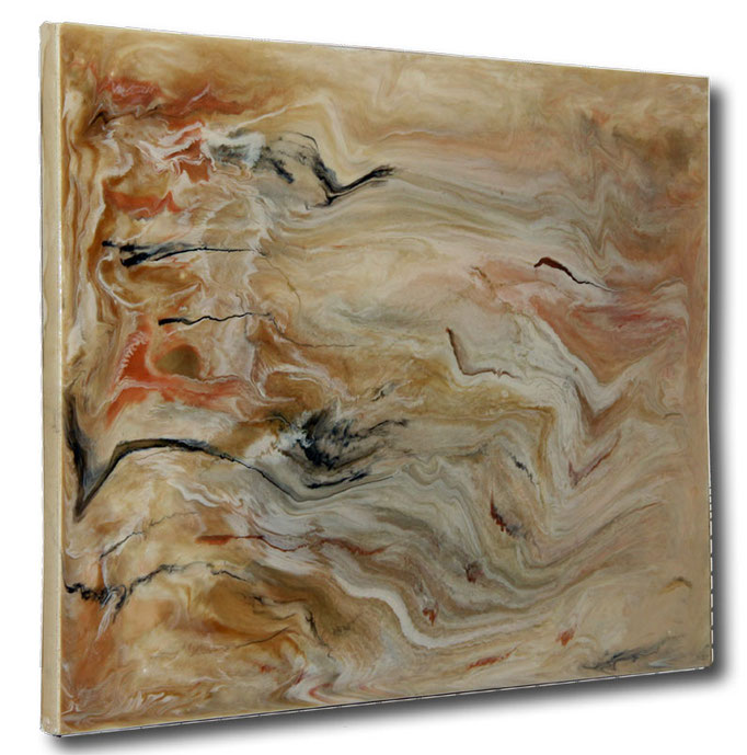 """Sand Dunes"" Resin Painting by Michael Stowasser"