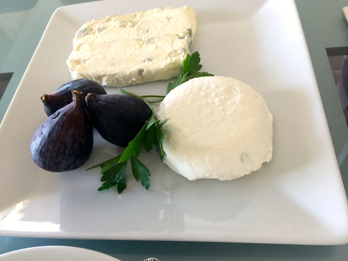 Italian gorgonzola and fresh goat cheese by ZsL