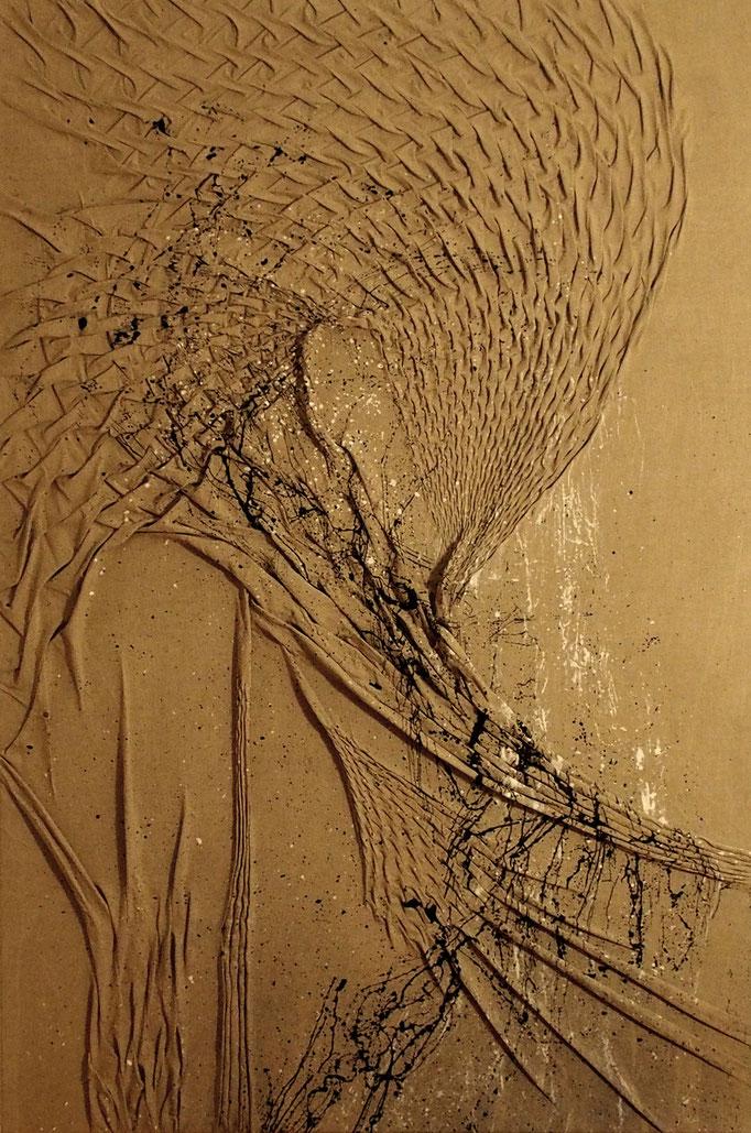 Armadillo  |  Malerei & Smoktechnik auf Leinwand  |  1750,-