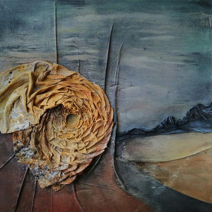Novus Ripa  |  Malerei & Smoktechnik auf Leinwand |  100 x 100  |  1550,-