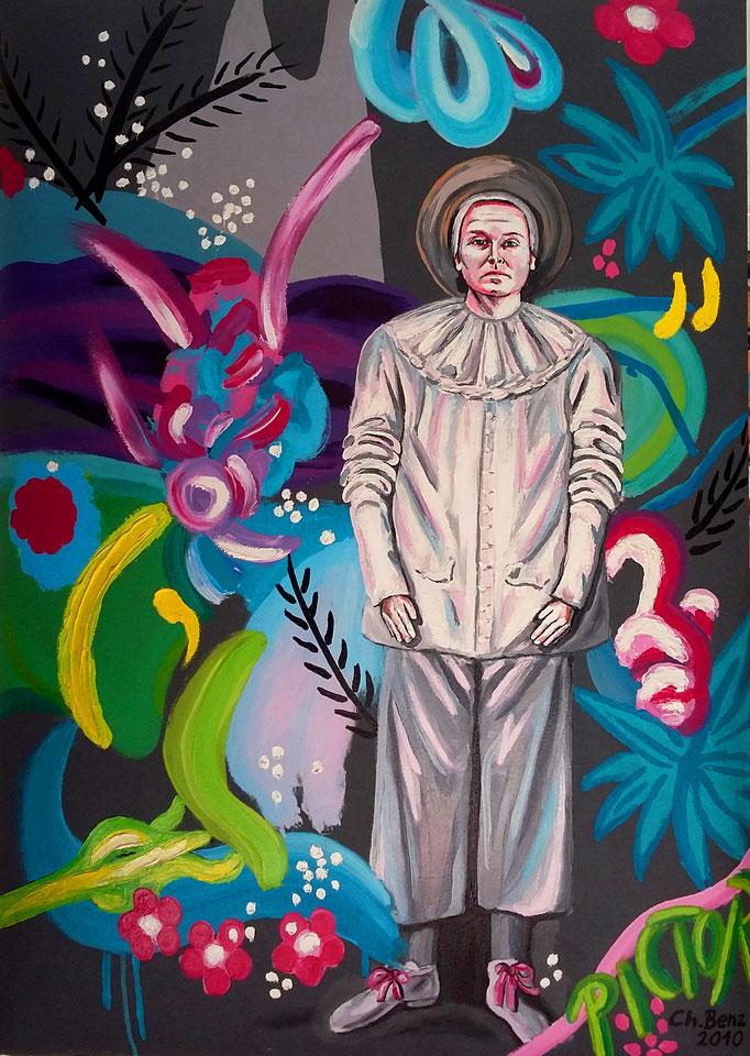 Selbstporträt, 2010. Öl auf gepolsterter Leinwand, 70x100cm © Christian Benz