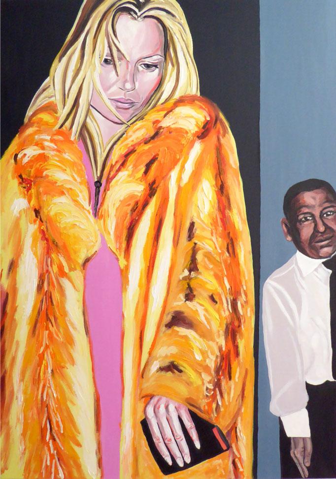 Kate verlässt einen Club, 2015. Öl auf Leinwand 70x100cm © Christian Benz