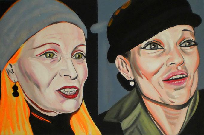 Vivienne und Kate, 2014. Öl auf Leinwand 40x60cm © Christian Benz