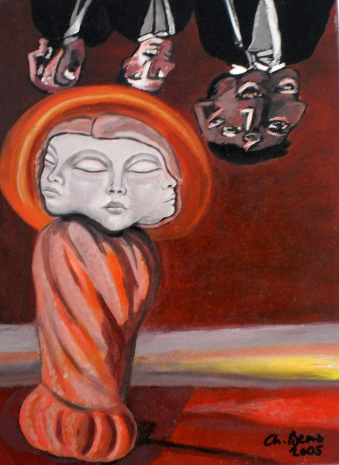 Dreifaltigkeit-1, 2005. Arcyl auf Leinwand, 20x30 cm © Christian Benz