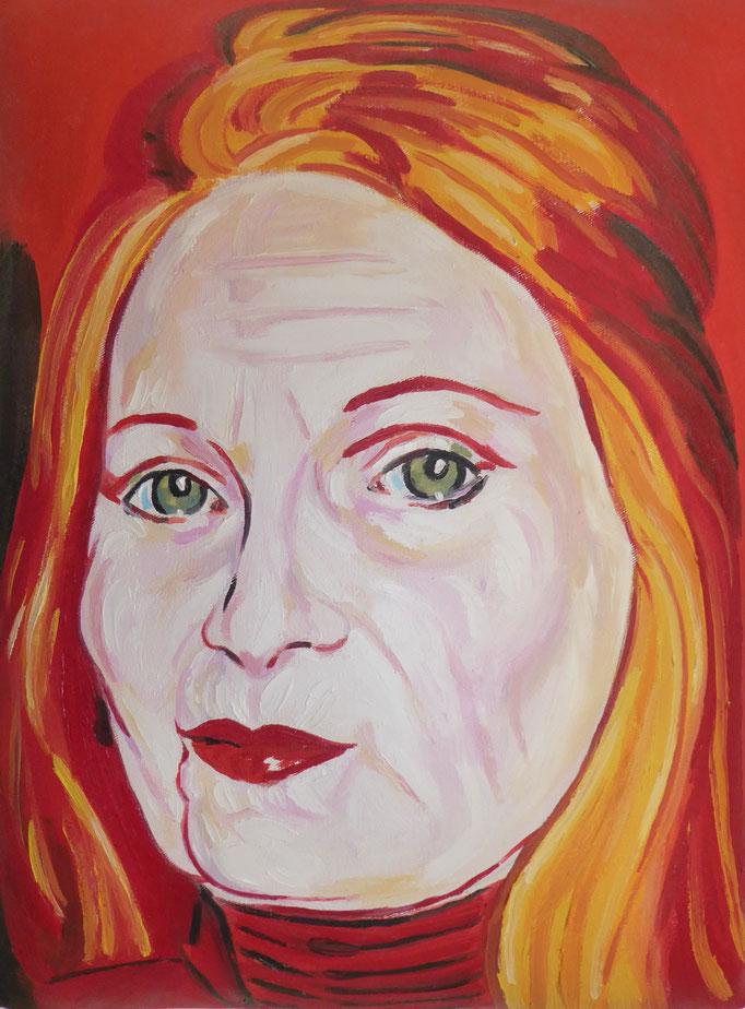 Vivienne, 2013. Öl auf gepolsterter Leinwand, 30x40cm © Christian Benz