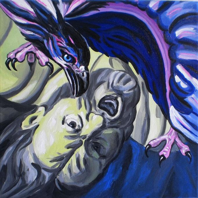 Prometheus, 2012. Öl auf Leinwand, 40x40cm © Christian Benz