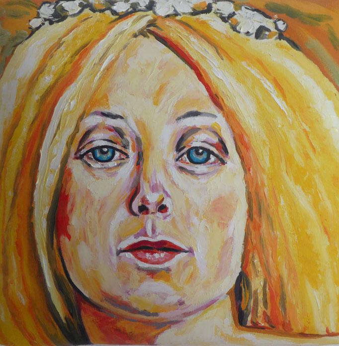 Immaculata, 2013. Öl auf gepolsterter Leinwand, 30x30cm © Christian Benz