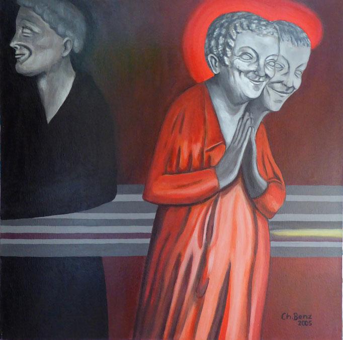 Dreifaltigkeit-2, 2005. Arcyl auf Leinwand, 50x70 cm © Christian Benz