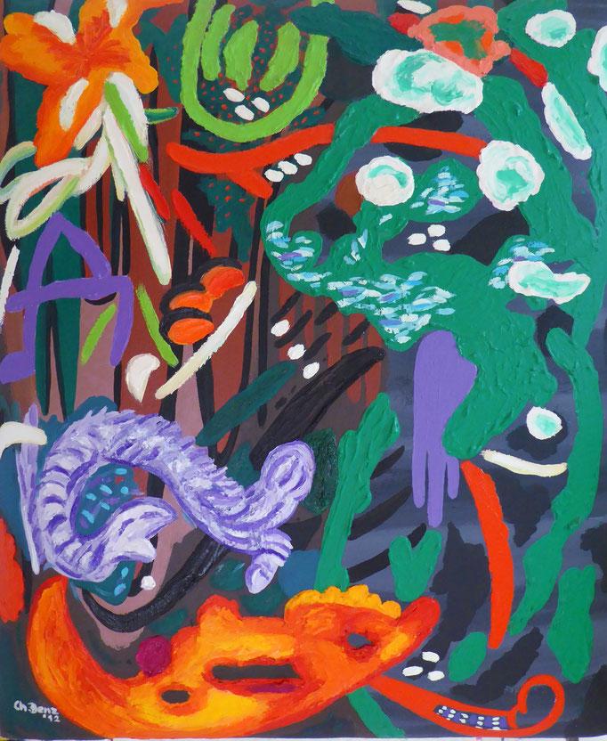 Where have all the dragons gone-1, 2012. Öl auf gepolsterter Leinwand, 50x60cm © Christian Benz