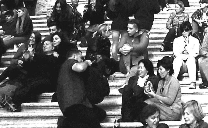 Rom - spanische Treppe, 2016. Fotoprint auf Papier 30x40cm