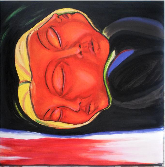 Dreifaltigkeit-6, 2015. Öl auf gepolsterter Leinwand, 50x50 cm © Christian Benz