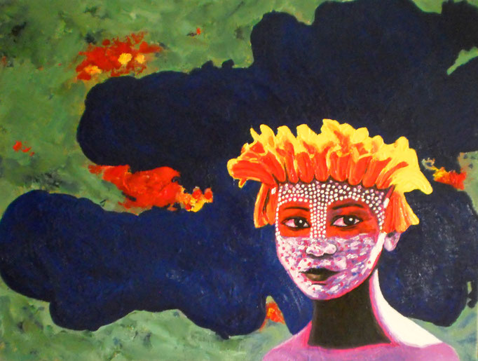 Junge Frau aus dem Omo-Tal, 2014. Öl auf Leinwand 60x80cm © Christian Benz