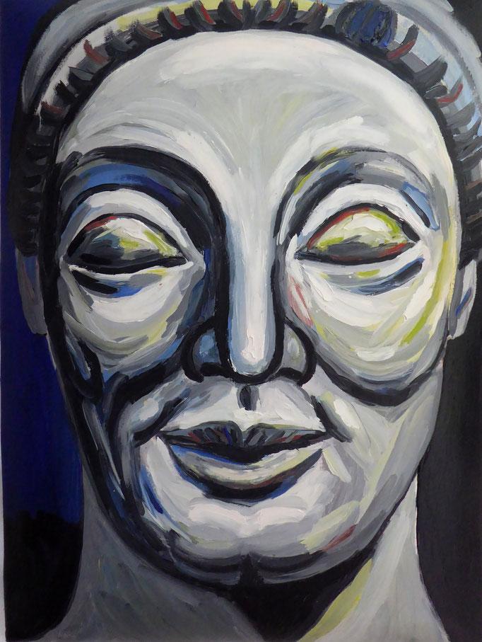 Kouros, 2015. Öl auf gepolsterter Leinwand 30x50cm © Christian Benz