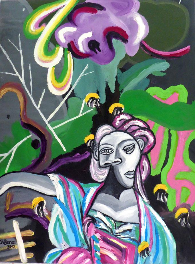 Picasso meets Fiona, 2011. Öl auf gepolsterter Leinwand, 60x80cm © Christian Benz