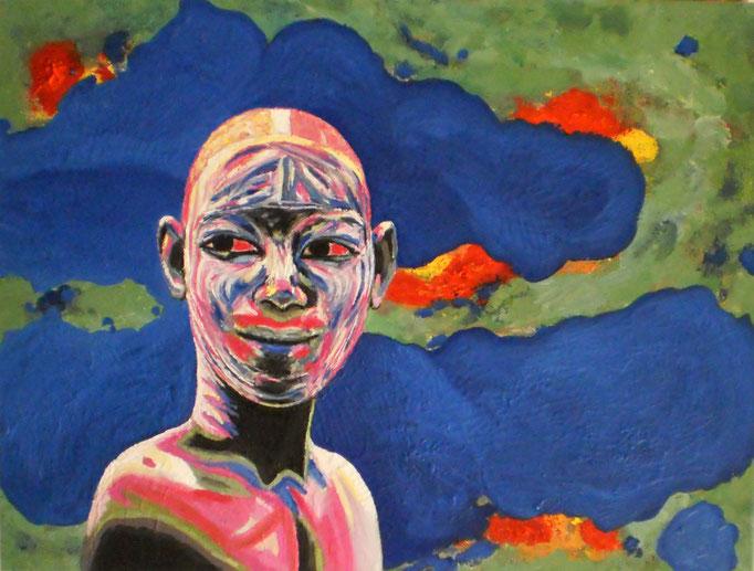 Junger Mann aus dem Omo-Tal, 2014. Öl auf Leinwand 60x80cm © Christian Benz