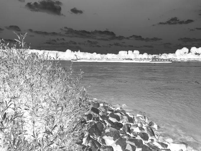 Rhein bei Rodenkirchen, 2017. Fotoprint, limitierte Auflage von fünf Fotos, 30x40 cm © Christian Benz