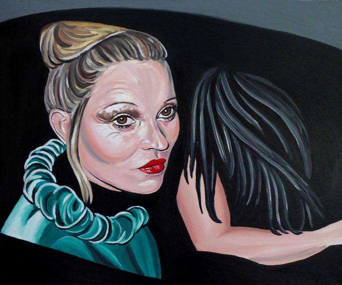 Maria und Maria Magdalena, 2017. Öl auf Leinwand 50x60cm © Christian Benz