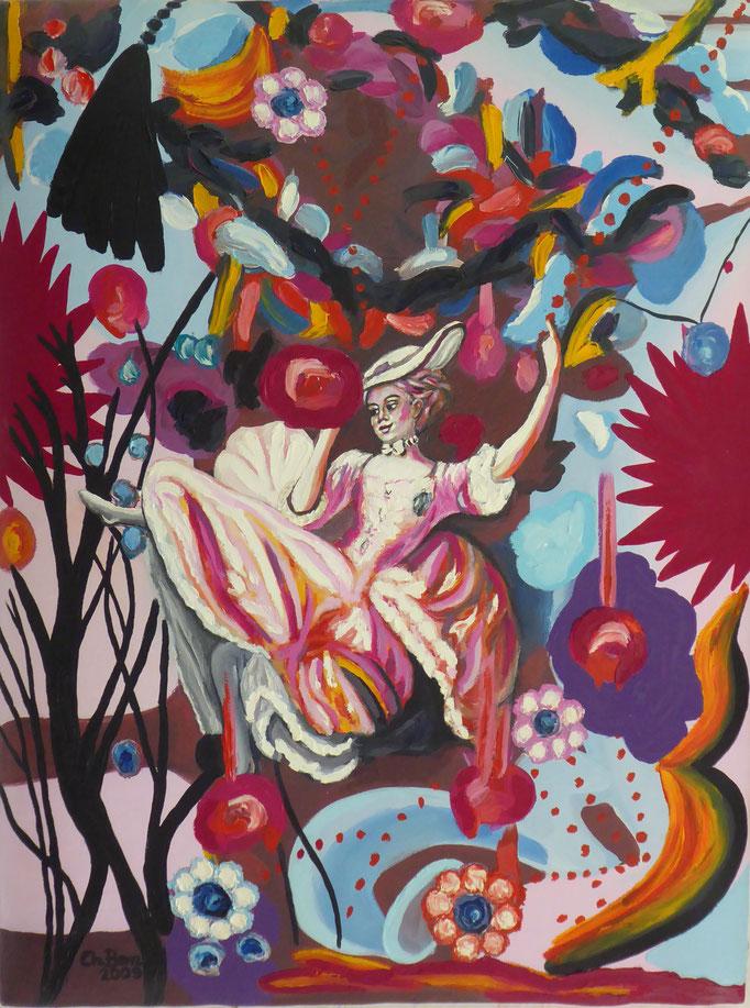 Alice im Wunderland, 2010. Öl auf gepolsterter Leinwand, 60x80cm © Christian Benz