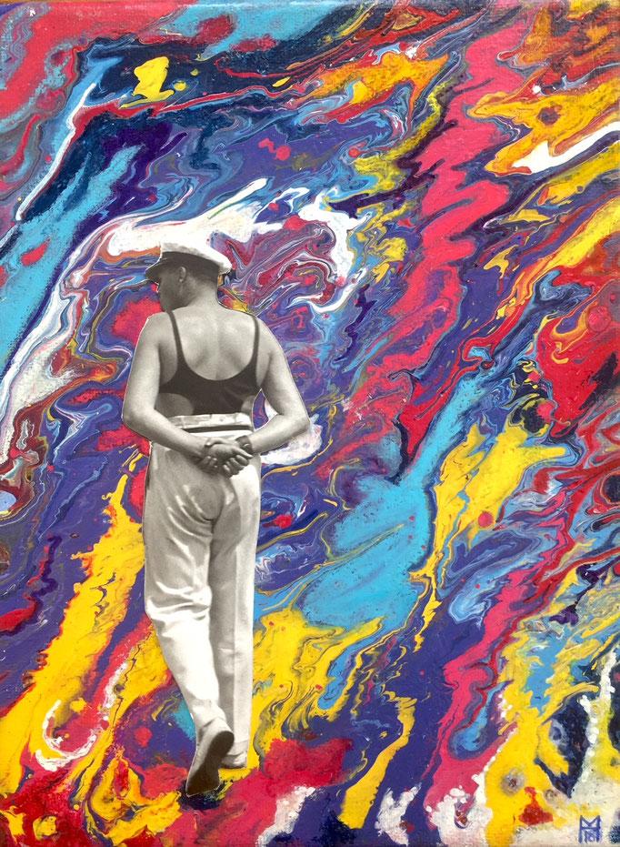 ... So der Sohn, 24 x 18 cm, Acrylics on Canvas
