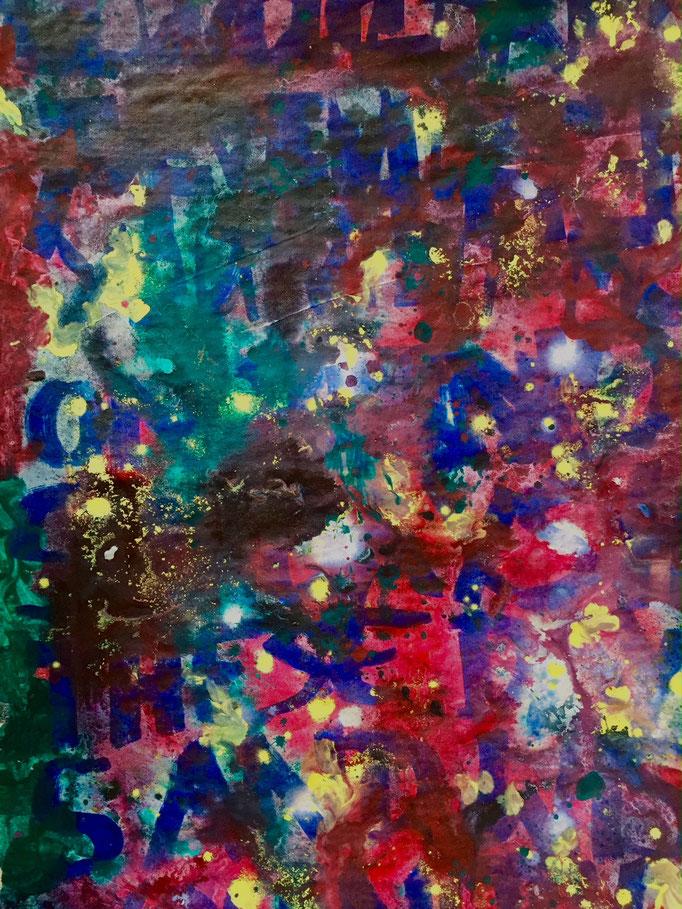 Untitled, Acrylics, 60 x 40 cm