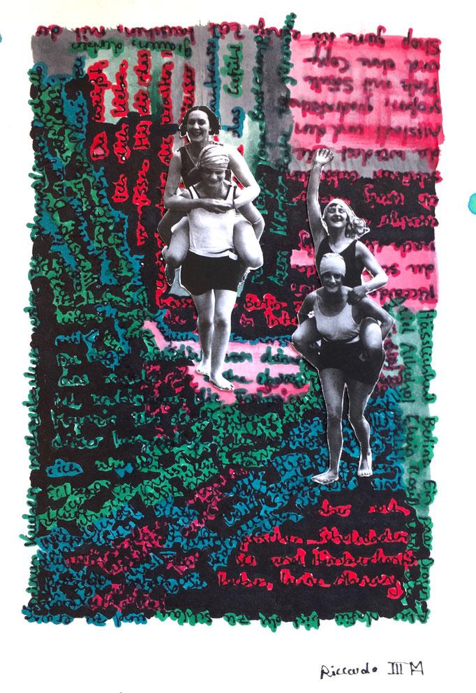 Riccardo III, Collage, 21 x 14,5 cm