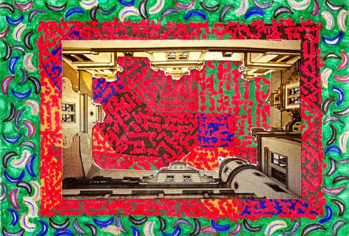 Dresden, Collage, 21 x 14,5 cm