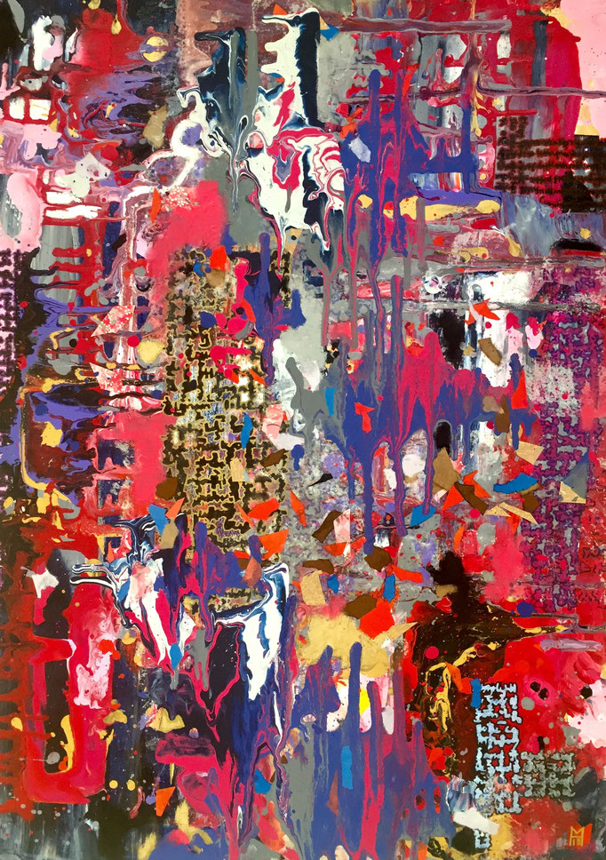Untitled, Acrylics, 70 x 50 cm