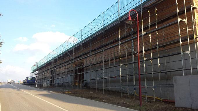 Gerüstbau Martin in 01816 Bad Gottleuba - Gerüst für einen komplett neuen Hallenbau