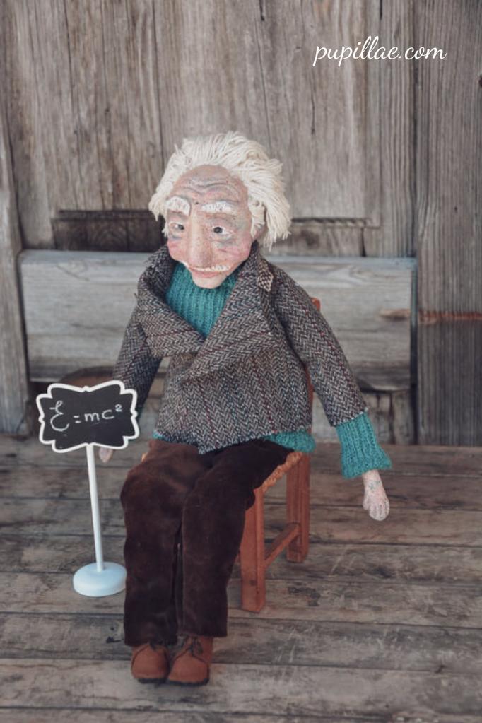 Bambola  che ho realizzato ispirandomi al grande genio.