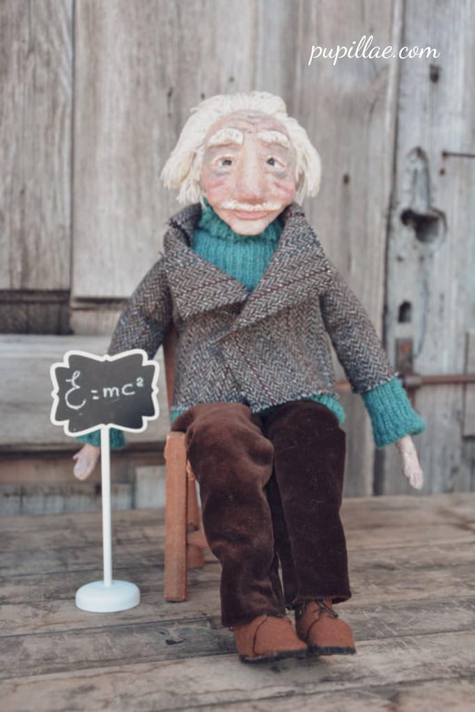 Art doll inspired by Einstein
