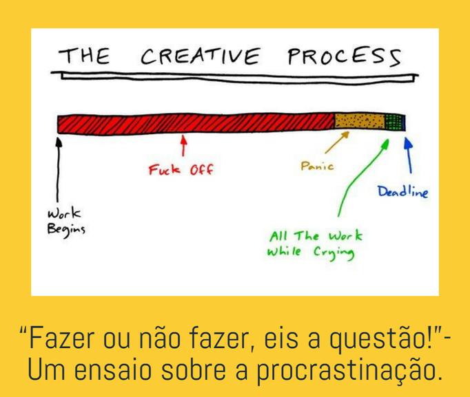 """""""Fazer ou não fazer, eis a questão!""""- Um ensaio sobre a procrastinação."""