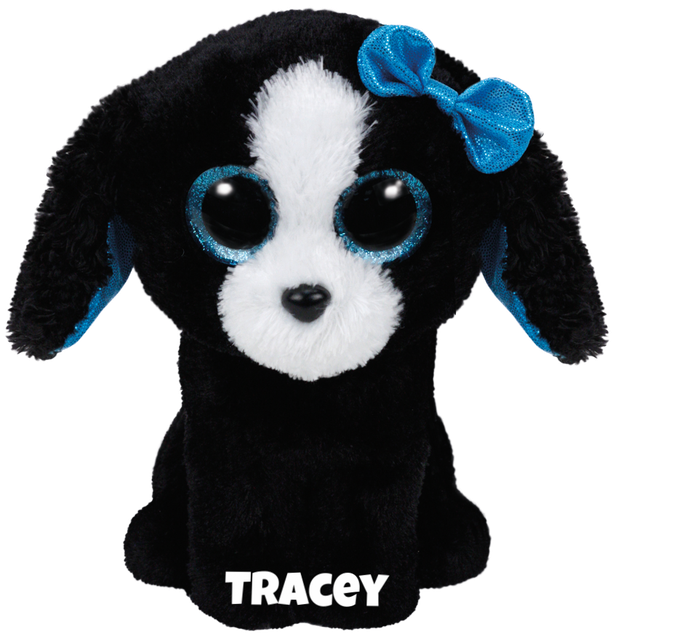 "Tracey is op 7 december jarig. ""I'm the smartest dog of all / I'll always come by you when you call!"""