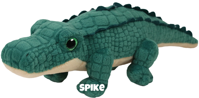 """Spike hat am 14. Januar Geburtstag. """"I have a big tail and spikes on my back / And big teeth to eat my favorite afternoon snack"""""""