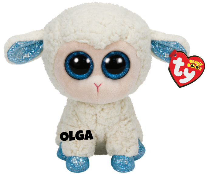 """Olga is op 18 februari jarig. """"One more reason for you to keep / In 2015 it's the year of the sheep"""""""