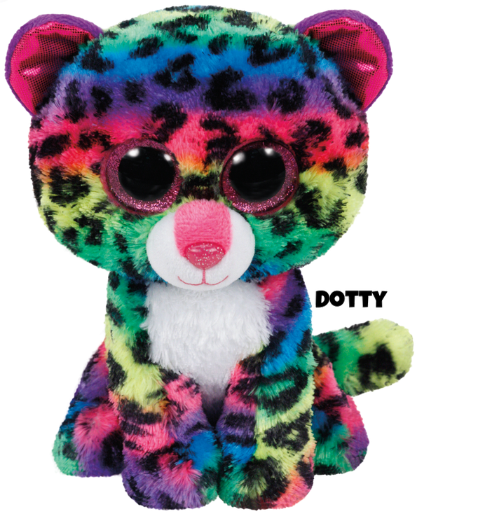 """Dotty is op 16 juni jarig. """"If you stare at my bold colored spots / They might start to look like big crazy dots!"""""""