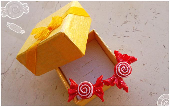 Orecchini caramelle, larghi 2 cm - 6*