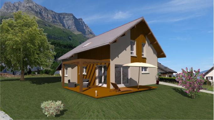 Construction de Maison Ossature Bois à Saint Pierre d'Albigny