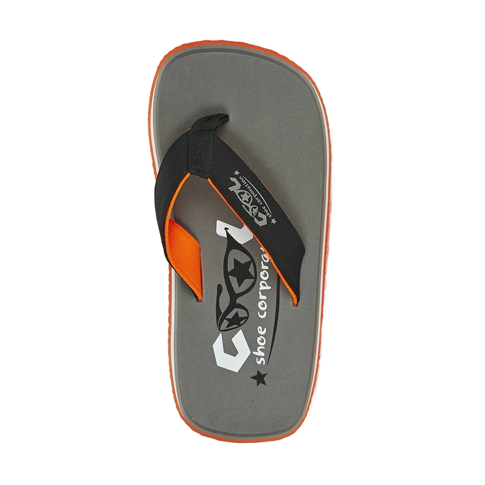 Cool Shoes Original Pi CHARCOAL - Flip Flops - Farbe Grau/Orange