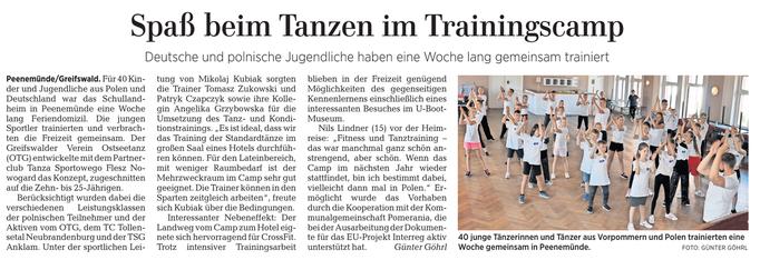 Veröffentlicht auf der Lokalseite der Ostseezeitung vom 16.07.2019