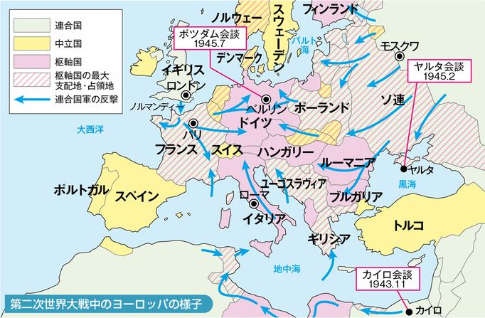 第2次大戦時のヨーロッパ