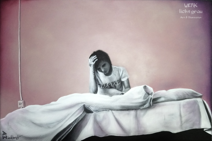"""solitary"", Acryl auf Leinwand, 40 x 60 cm, 2018"
