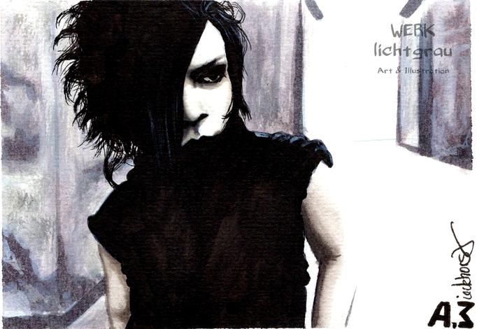 """ohne Titel"", Tinte, Tuschestifte, Postkartenblock DIN A6"