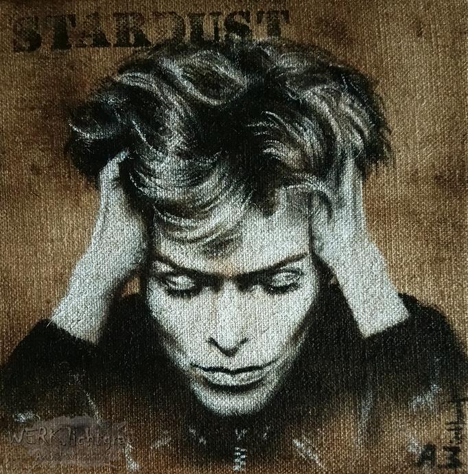 """""""Stardust"""", Acryl auf Juteleinwand, 30 x 30 cm, 2017"""