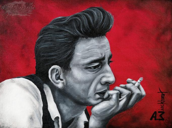 """Cash"", Acryl auf Malpappe, 30 x 40 cm"