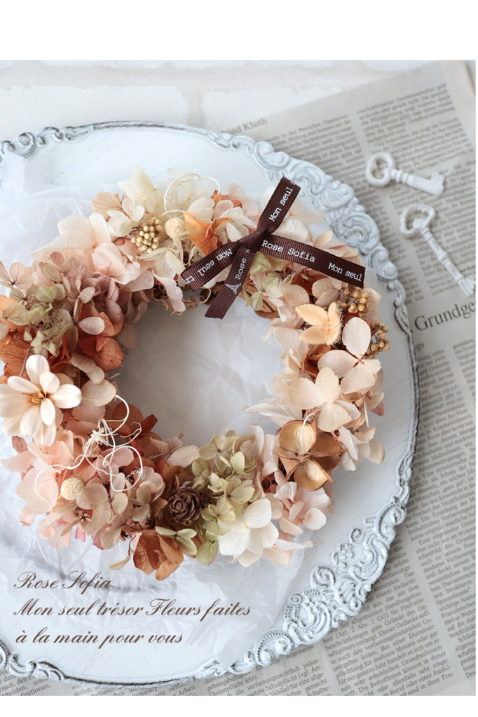 Lovely Wreath 19x19 ¥4,500+税 (¥4,950) (※レッスン作品より)