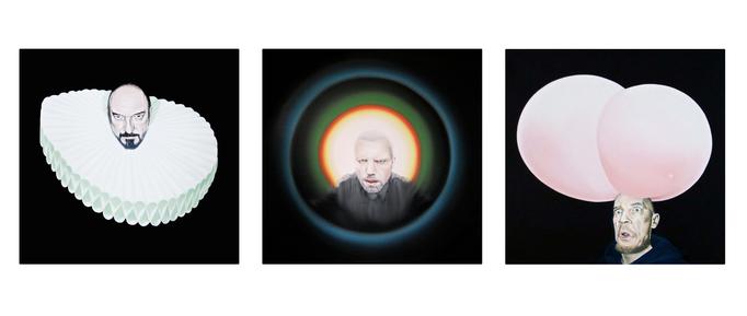 Triptych_Geister die ich rief , 2012,  Oil on Canvas, a 80 x 80 cm
