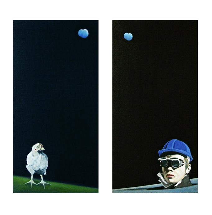 Die Erkenntniss I-II, Oil on Canvas, a 100 x 50 cm