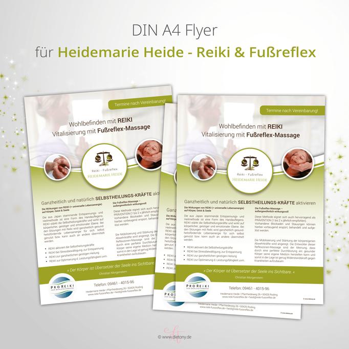 Reiki & Fußreflex - Heidemarie Heide - 2018: Infoblatt A4
